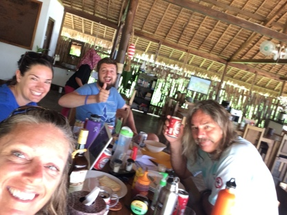 Breakfast drinks in Komodo