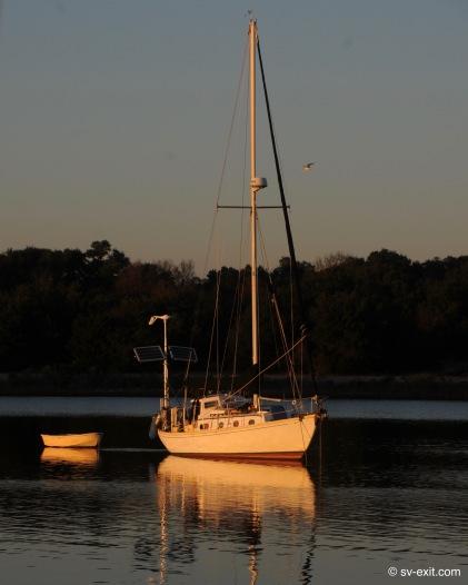 S/V Nomad at anchor