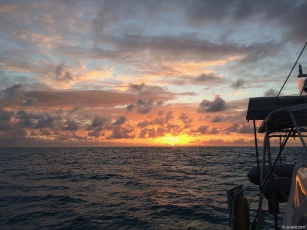 Sunset on Great Bahama Bank