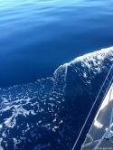 Stunning indigo blue water