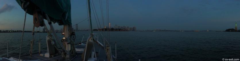 NYC transitioning to night