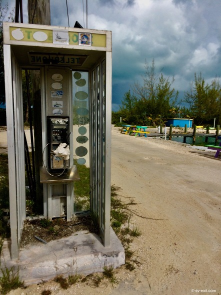 Bahamian pay phone... note conch shell mouthpiece