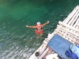 A quick pit stop swim