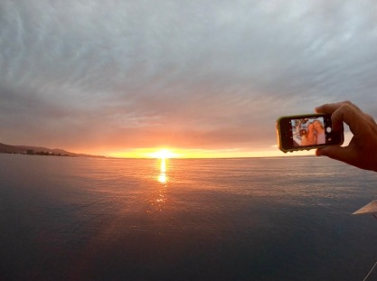 Sunset and selfie two-for one