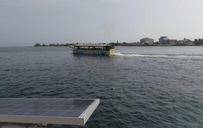 It's a bus...it's a boat... it's a floating pile of shit