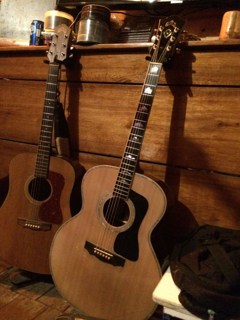 Two Guild guitars