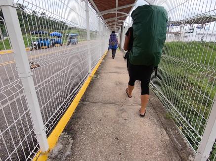 Crossing into Mexico