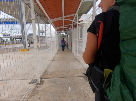 Walking across the border