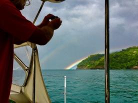 Cayos Cochinos rainbow