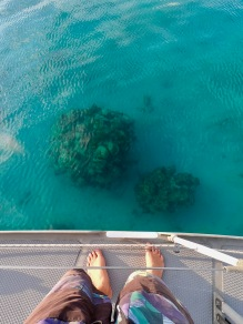 Mooring over coral